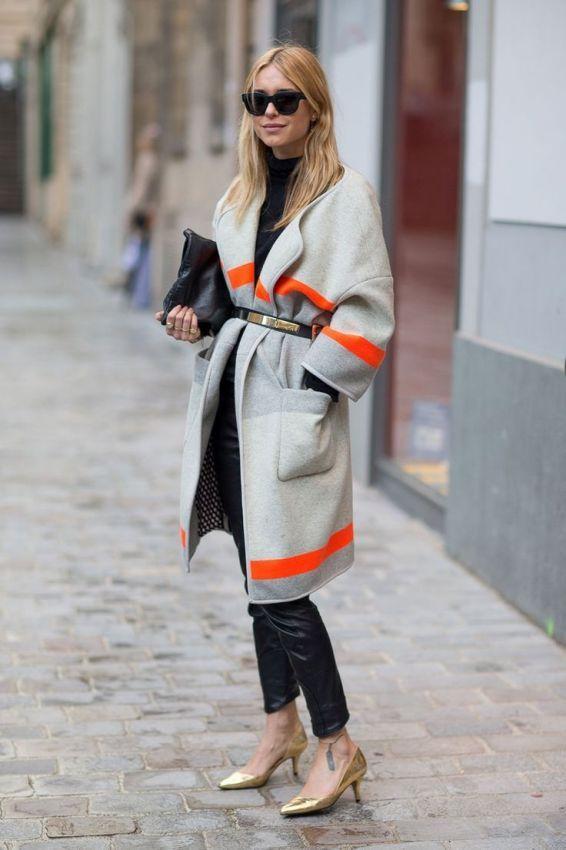 серое пальто халат фото