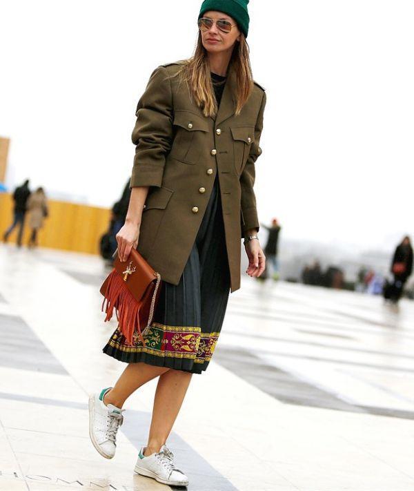 модные женские пальто милитари весна