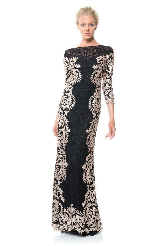 длинное платье футляр с кружевом