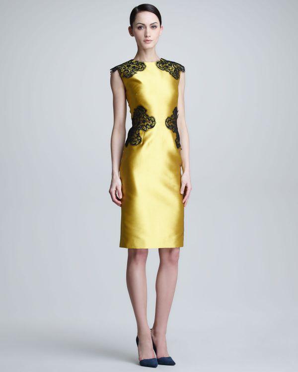 золотое платье футляр из атласа
