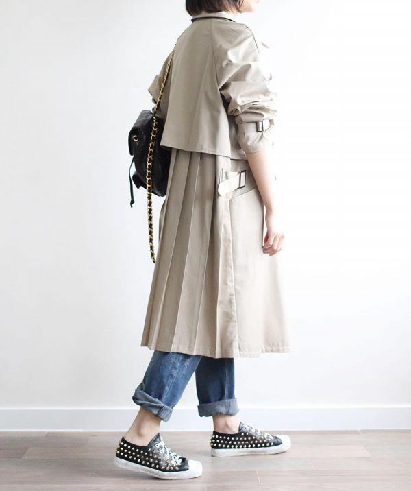 весеннее женское пальто тренч фото