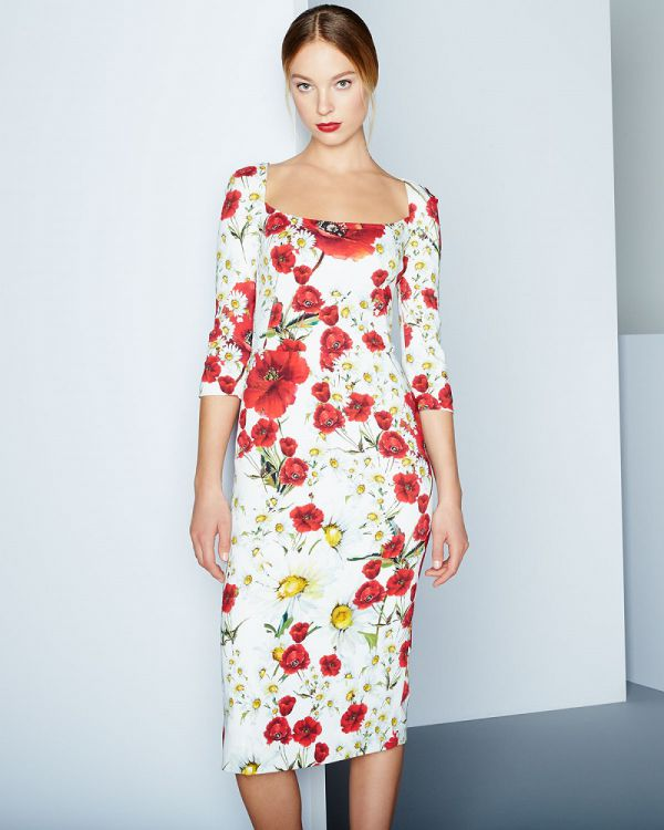 длинное платье футляр с рукавом три четверти фото