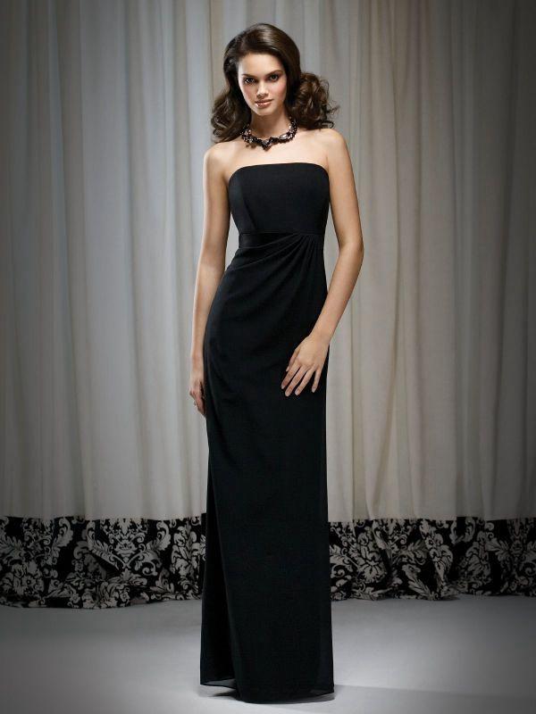черное вечернее платье футляр