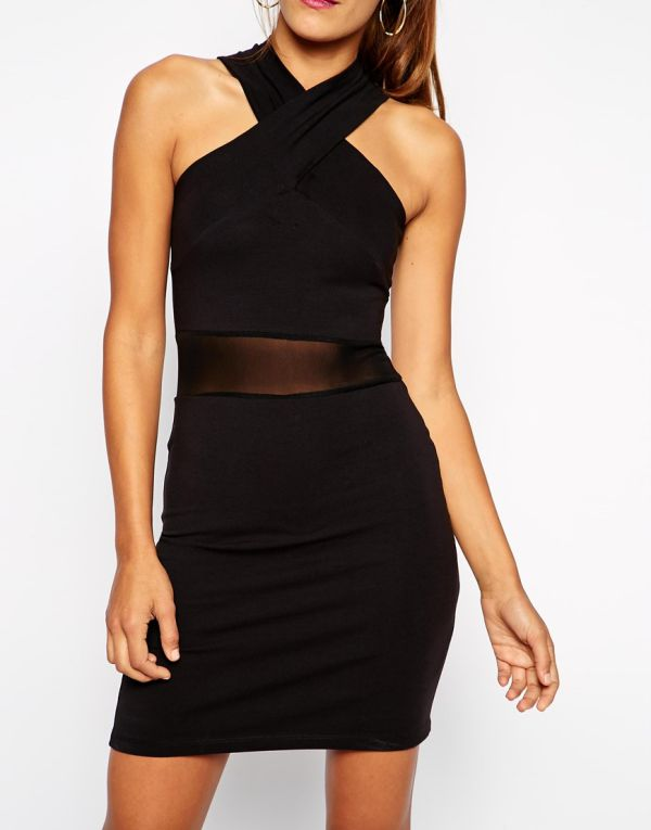 маленькое черное платье футляр фото