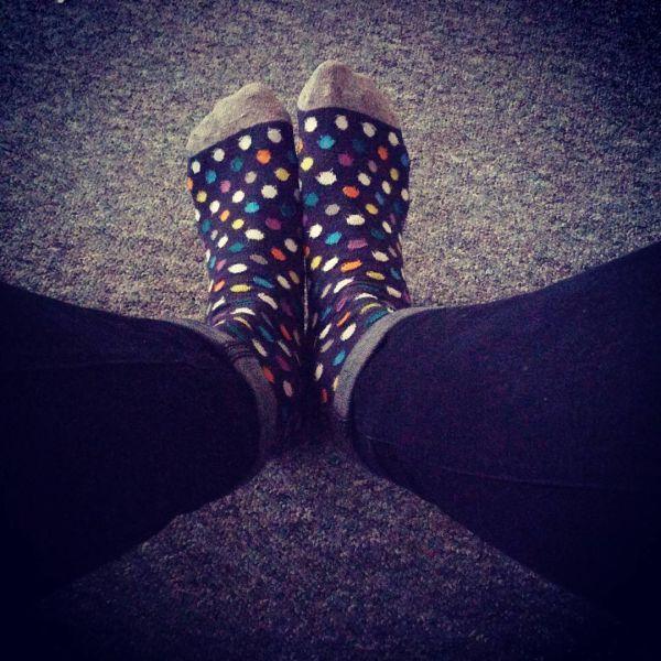 прикольные женские носки в мелкий горох