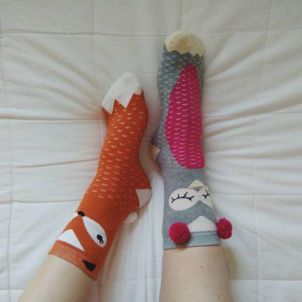 разноцветные носки с бубончиками