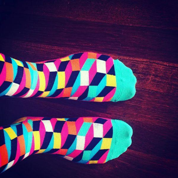 геометрические носки