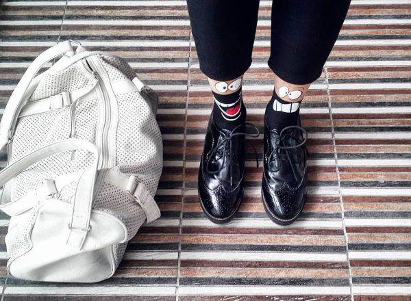 смешные мужские носки под туфли