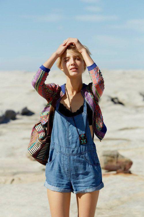 модный женский летний хлопковый комбинезон с чем носить