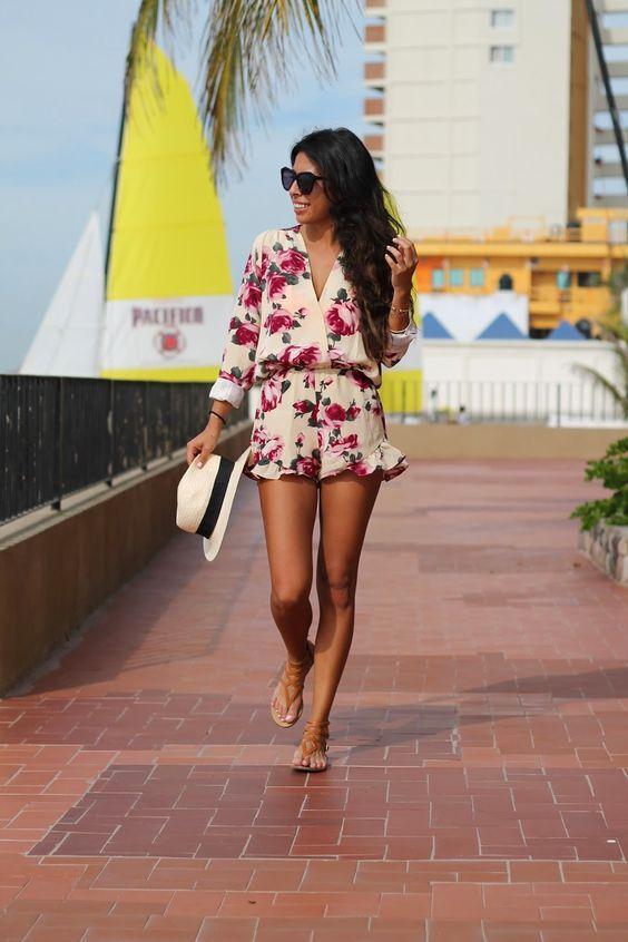 хлопковые летние комбинезоны для женщин модный образ 2017 года