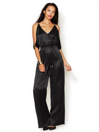черный длинный летний комбинезон брюками для женщин