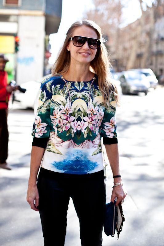 стильный свитшот с цветами