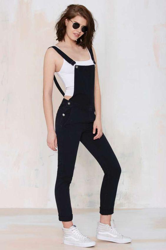 черный джинсовый ромпер для женщин фото