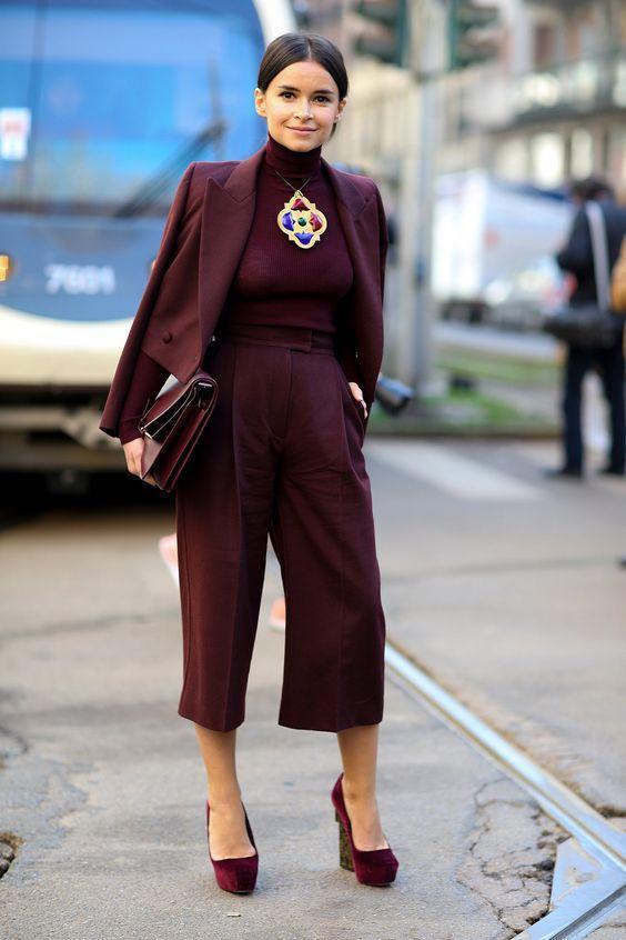 женские юбка брюки с гольфом образ 2017 года