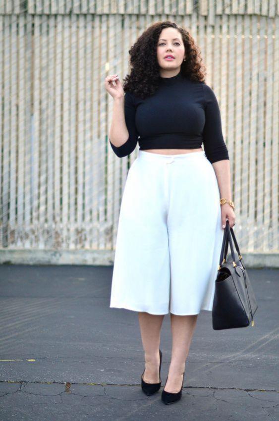 юбка-штаны для полных женщин фото