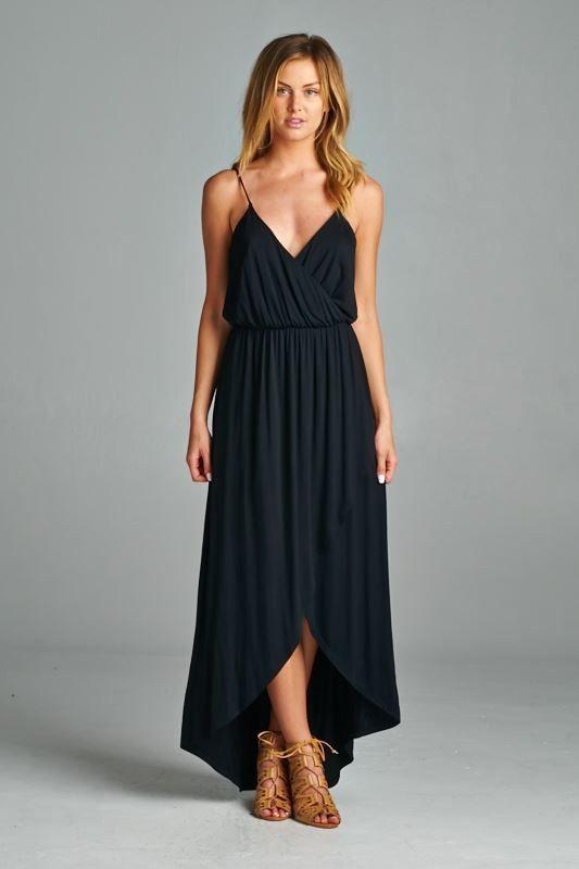 черное платье с юбкой тюльпан фото