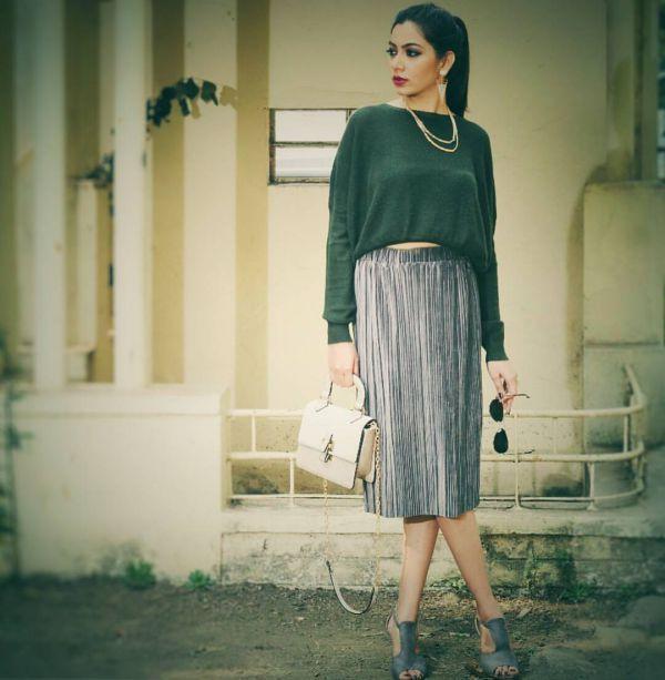 Плиссированные юбки 2018 (45+ фото)  с чем носить миди 13bd5797de83b