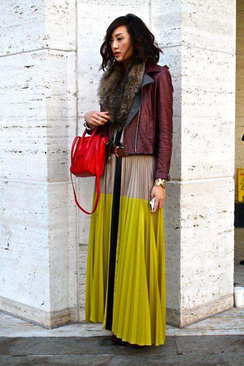 цветная юбка плиссе фото