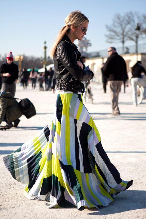 длинная плиссированная юбка фото