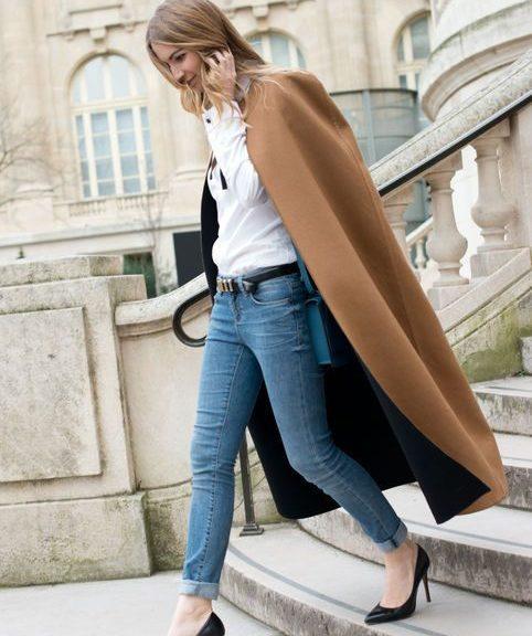 кейп с джинсами фото лук