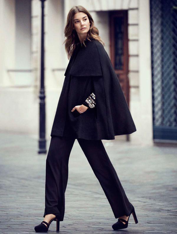 кейп - пальто накидка стиль 2017 года