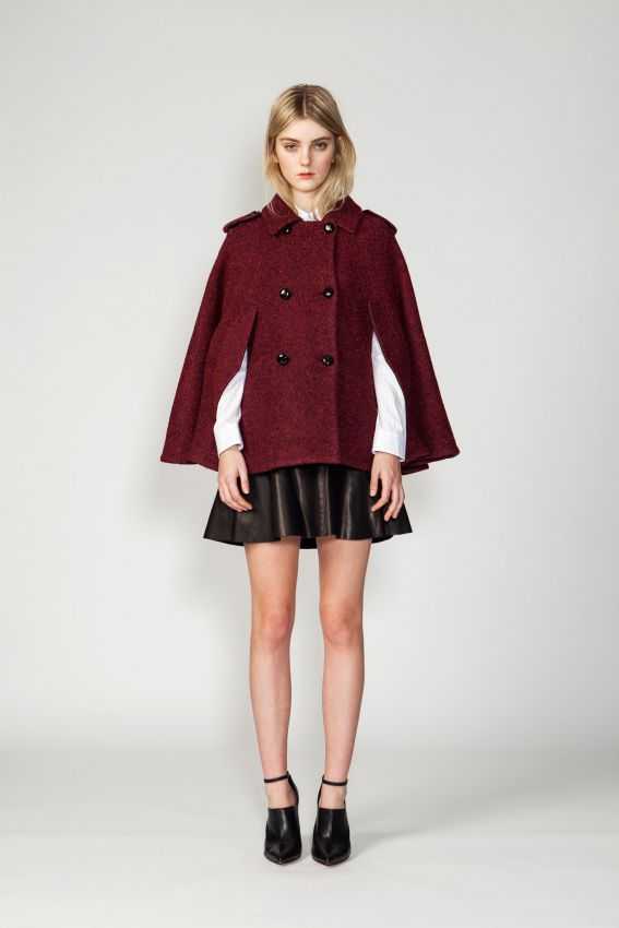 осеннее короткое пальто трансформер