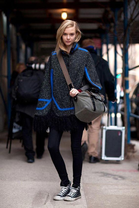 вязаное пальто без рукавов